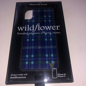 Wildflower Iphone X/XS Blue Plaid case